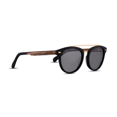 Unisex // Polarized // Captain Sunglasses // Matte Black + Smoke