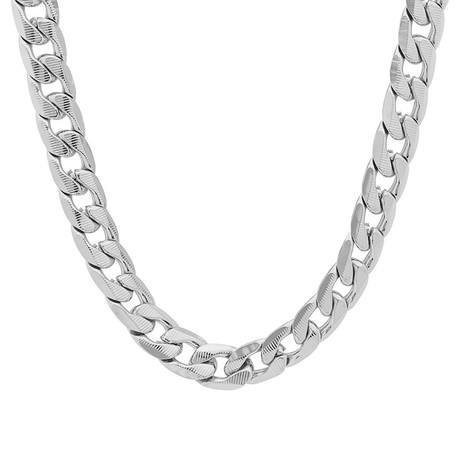Cuban Link Chain Necklace // Silver