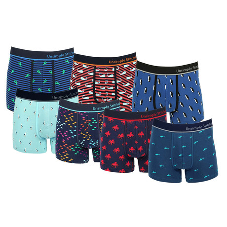 Patrick Assorted Trunks // Pack of 7 (S)