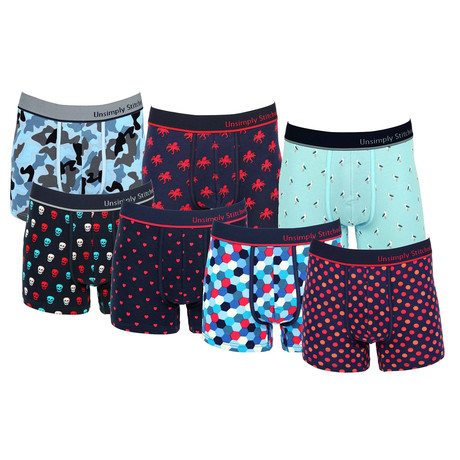 Matthew Assorted Trunks // Pack of 7 (S)
