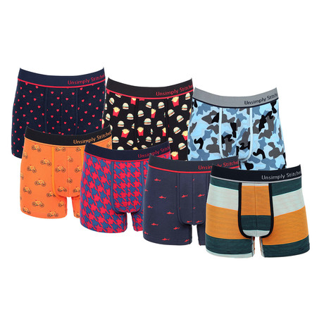 Jonathon Assorted Trunks // Pack of 7 (S)