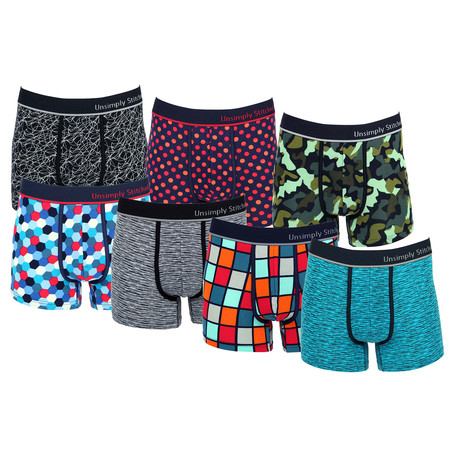 Neil Assorted Trunks // Pack of 7 (S)