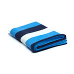 Blanket // Colorblock Knit (Dark Gray, Medium Gray, Cream)