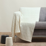 Blanket // Cable Knit (Dark Gray)
