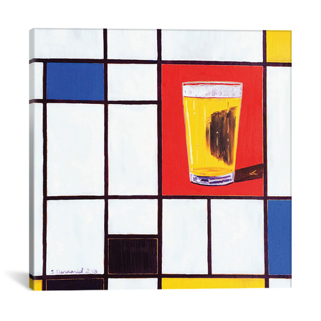 "Mondrian Pint (12""W x 12""H x 0.75""D)"