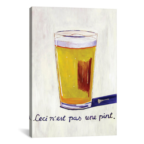 "This Is Not A Pint (18""W x 12""H x 0.75""D)"