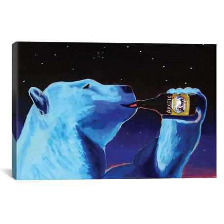 "Arctic White Polar Bear (12""W x 18""H x 0.75""D)"