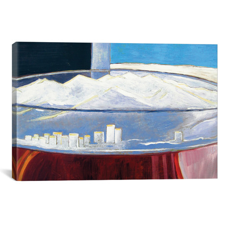 "Pint With Anchorage Skyline (12""W x 18""H x 0.75""D)"