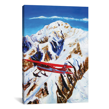 "Flight Around Denali (18""W x 12""H x 0.75""D)"