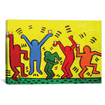 "Keith Haring Party (12""W x 18""H x 0.75""D)"
