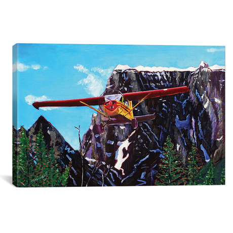 "Castle Peak Fly By (12""W x 18""H x 0.75""D)"