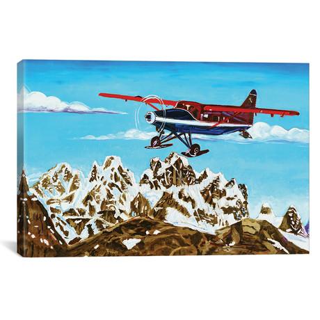 """Ruth Glacier Landing (12""""W x 18""""H x 0.75""""D)"""