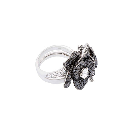 Crivelli 18k White Gold Diamond + Black Diamond Ring // Ring Size: 6.25