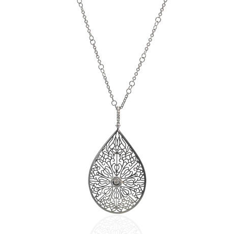 Crivelli 18k White Gold Diamond Pendant Necklace I