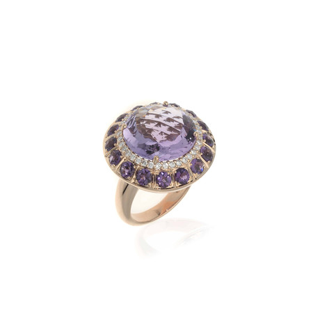 Crivelli 18k Rose Gold Diamond + Amethyst Ring // Ring Size: 7.5