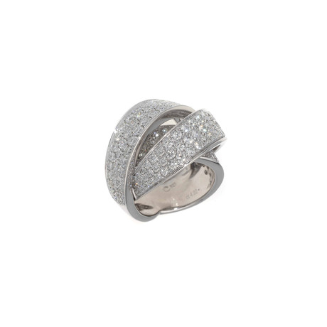 Crivelli 18k White Gold Diamond Ring II // Ring Size: 6.75