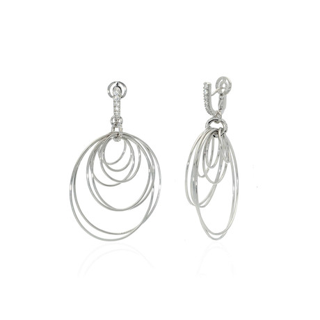 Crivelli 18k White Gold Diamond Earrings II