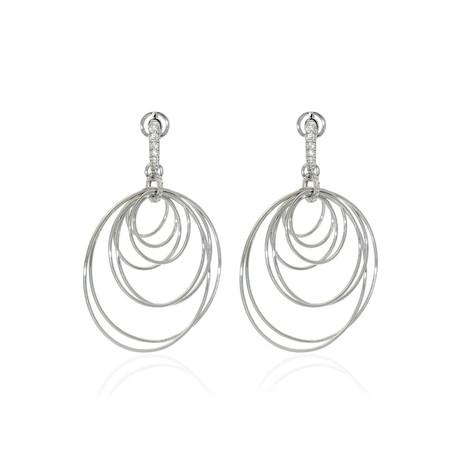 Crivelli 18k White Gold Diamond Earrings