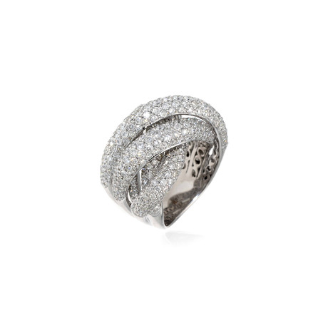 Crivelli 18k White Gold Diamond Ring // Ring Size: 7