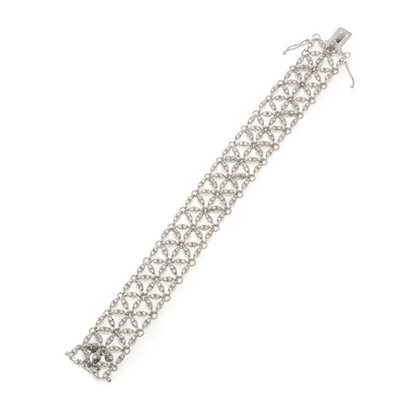 Crivelli 18k White Gold Diamond Statement Bracelet