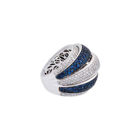 Crivelli 18k White Gold Diamond + Sapphire Ring I // Ring Size: 6.75