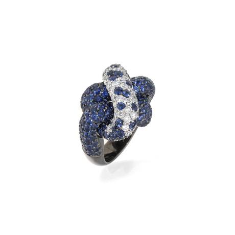 Crivelli 18k White Gold Diamond + Sapphire Ring II // Ring Size: 6.75