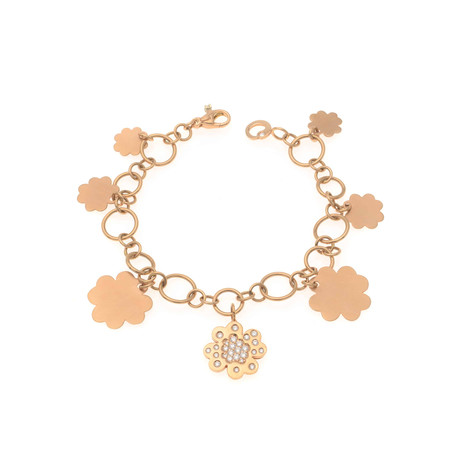Crivelli 18k Rose Gold Diamond Chain Bracelet