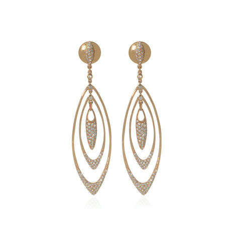 Crivelli 18k Rose Gold Diamond Drop Earrings