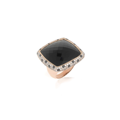 Crivelli 18k Rose Gold Diamond + Black Diamond Ring // Ring Size: 6.25