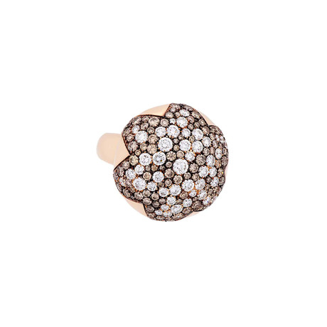 Crivelli 18k Rose Gold Diamond + Brown Diamond Ring // Ring Size: 6.25