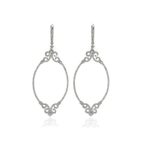 Crivelli 18k White Gold Diamond Drop Earrings II