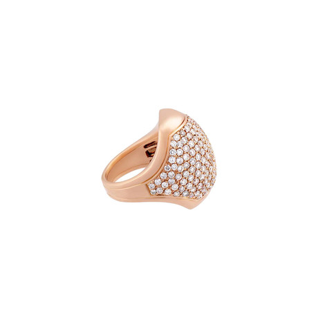 Crivelli 18k Rose Gold Diamond Ring II // Ring Size: 7