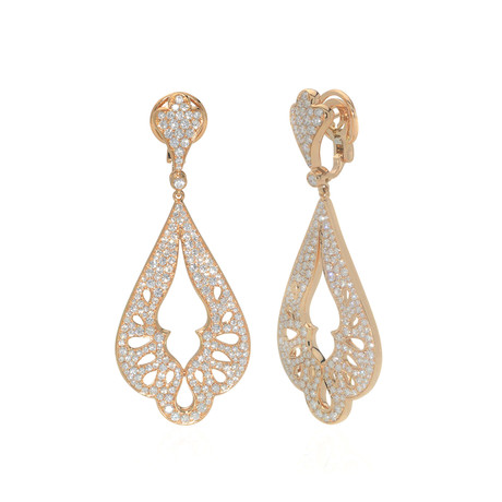 Crivelli 18k Yellow Gold Diamond Drop Earrings
