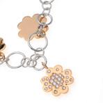 Crivelli 18k Two-Tone Gold Diamond Chain Bracelet