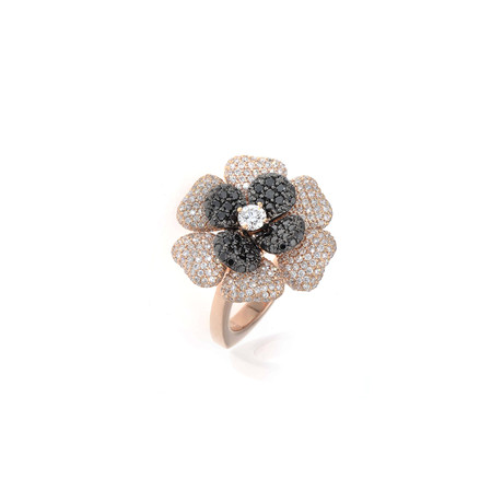 Crivelli 18k Rose Gold Diamond + Black Diamond Ring I // Ring Size: 6.25