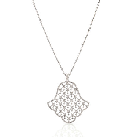 Crivelli 18k White Gold Diamond Pendant Necklace II