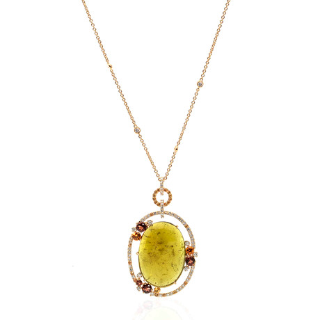 Crivelli 18k Yellow Gold Diamond + Sapphire Necklace