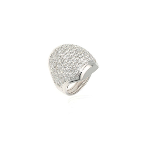 Crivelli 18k White Gold Diamond Ring // Ring Size: 6.25