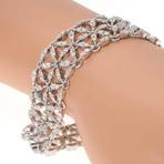 Crivelli 18k White Gold Diamond Statement Bracelet