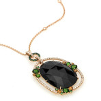 Crivelli 18k Yellow Gold Diamond + Onyx Cocktail Necklace