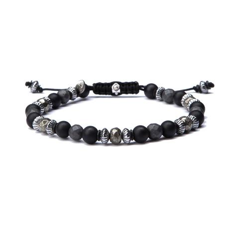 Pyrite Bracelet // Black (Small)