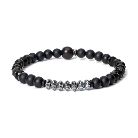 Black Onyx // Sterling Bead Stack (Small)