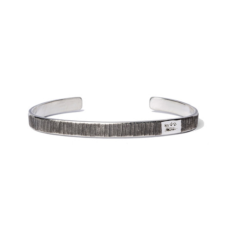 Flat Etched Cuff // Silver (Small)
