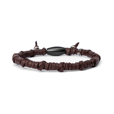 Handwrapped Brown Leather // Sterling Details (Small)