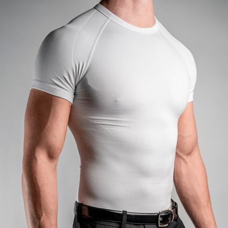 CoreMax Crew Neck Undershirt // White // Set of 3 (S)