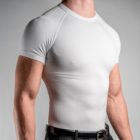 CoreMax Crew Neck Undershirt // White // Set of 5 (S)