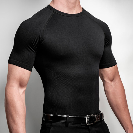 CoreMax Crew Neck Undershirt // Black // Set of 3 (S)