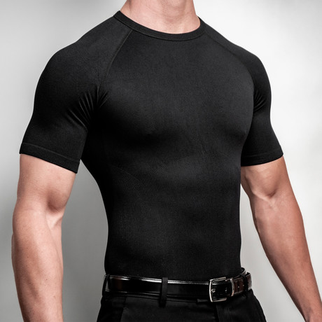 CoreMax Crew Neck Undershirt // Black // Set of 5 (S)