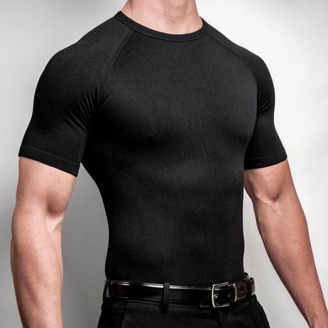 CoreMax Crew Neck Undershirt // Black (S)
