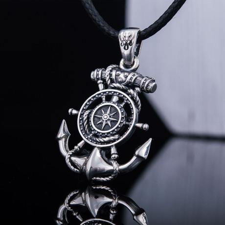 Anchor + Compass Pendant
